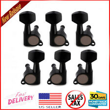 Black Guitar 3+3 Tuners Tuning Pegs Fit Harmony,Epiphone,Ibanez,R ogue,Silvertone