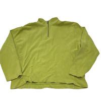 Tommy Bahama Women Pullover Sweater 1/4 Zip Mock Neck Long Sleeve Size XL Green