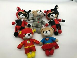 Justice League Bear Collection Great Condition 5 Bears