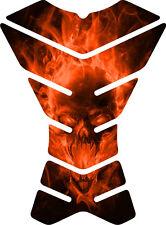 Exploding Skull Orange XXX Universal Motorcycle Tank Pad tankpad Protector Guard
