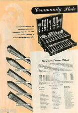 1942 ADVERT 2 PG Flatware Silverware  Community Plate Milady Forever Coronation