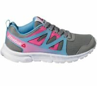 Reebok Womens Run Supreme 2.0 Shoes Sneakers Pink Blue Gray NEW