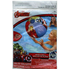 LOT 10 MARVEL AVENGERS KIDS POOL BEACH BALL TOY BIRTHDAY PARTY FAVORS PRIZES NEW