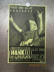 HANK III & ASSJACK Ogden Theatre Denver 2006 SHOW POSTER MURDER JUNKIES NiPP