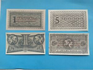 LITHUANIA 1,5 litai 1922 Specimen Copy with wmk Rare