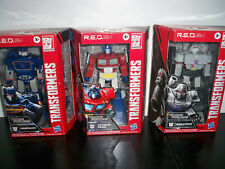 IN HAND Transformers R.E.D. Set Optimus Prime, Megatron, Soundwave