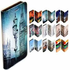For Sony Xperia Series - City Landmark Print Wallet Mobile Phone Case Cover