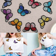 10xEmbroidery Butterfly Sew Patch Badge Embroidered Fabric Bag Cloth Applique