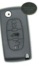 Fits Peugeot Partner Citroen Berlingo DISPATCH 3 Button KEY FOB REMOTE Key CASE