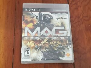 Play Station 3 MAG Video Game Disc Case Manual PS3 Pre-Owned Cleaned Tested