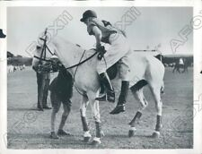 1953 The Duke of Edinburgh Mounted his Horse for a Polo Match Press Photo