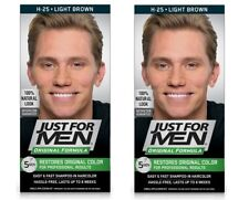 Just For Men Original Formula, Restores Original Color, H25 Light Brown (2 Pack)