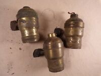 Lot of Vintage Electric Lamp Fatboy Brass Turn Socket P & S For Parts Restore
