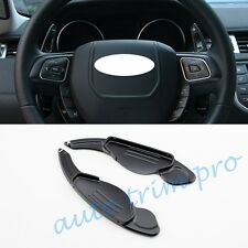 2pcs Silver Steering Wheel Shift Paddle Shifter Extension For Jaguar Land Rover