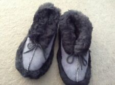 GENUINE SHEEPSKIN SLIPPER/BOOTS WITH LACE TIES (SIZE 5)
