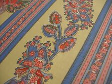 """Texunion """" Cashmere""""  1993 Floral Stripe Pink yellow  French Provincial"""