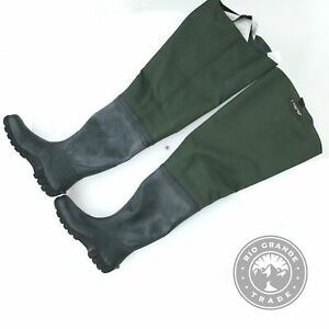 USED FROGG TOGGS 2716243 Cascades 2 Ply Bootfoot Hip Wader in Forest Green - 10