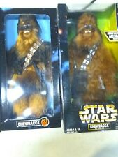 """Star Wars Collector Series, Chewbacca in Chains 1998&1996 12"""" Both Furry."""