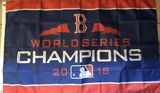 Boston Red Sox Flag 3x5 Red Stripe Banner World Series Champions 2018 Man Cave