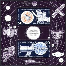 Bulgaria 1987 Soviet Space Exploration/Rockets/Astronauts 2v m/s (b4410)