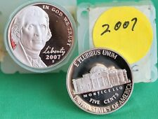 Proof Roll of 2007 S Jefferson Nickels 40 5c Coins from United States Proof Sets