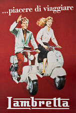Lambretta. Italian Motor Scooter. Vintage Advertising Poster Reproduction 20x29