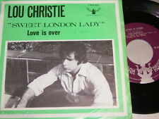 "7"" - Lou Christie/SWEET LONDON Lady & Love is over - 1970 Dutch # 2185"