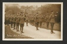 Colne - Funeral of B.S.M. Doodson April 5th 1918 - real photographic postcard
