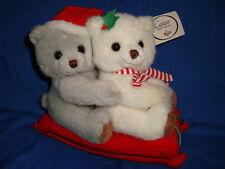 Caress Soft Pets Russ Christmas Plush Bears on Sled