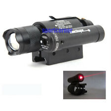 Tactical Sight compact red dot laser & 300 LUM Q5 Zoom Focus torch for 20mm rail