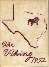 North Dallas High School Texas 1952 Viking Yearbook Annual HS Year Book