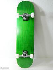 """Green Blank Complete 7.75"""" Skateboard 7ply Maple Deck 5.0 Raw Truck 52mm Wheels"""