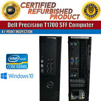 Dell Precision T1700 SFF Intel i7 8GB RAM 1TB HDD Win 10 USB VGA B Grade Desktop