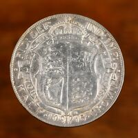 Raw 1915 Great Britain 1/2 Crown Uncertified Ungraded Silver Half Crown Coin
