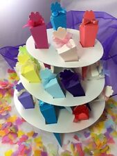 Confetti Cone Stand 3 Tier White Pearlised Display Wedding Card holder 24 Cones