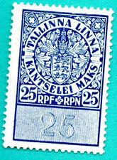 ESTONIA 25 Rpf REVENUE STAMP 294