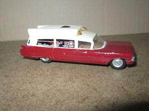 539Q 1962'S Corgi-Toys 437 England Superior Ambulance Cadillac Chassis L 11.5 CM