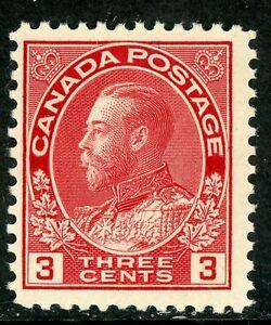 Canada 1923 Admiral 3¢ Carmine Perf 12 Die 1 Scott # 109 MNH  H980