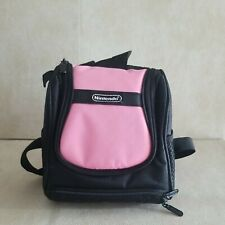 Nintendo Mini Backpack Gameboy Carrying Protective Travel Case Pink Black