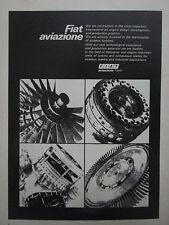 10/1973 PUB FIAT AVIAZIONE AVIATION HELICOPTER TURBINE COMPRESSOR BLADE AD