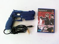 Pistolet Guncon 2 officiel NAMCO et jeu Vampire Night Sony Playstation 2 PS2 FR