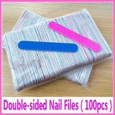 Nail Files Sandpaper Professional Buffers Slim Crescent Grit Disposable Tools