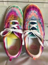 Faded Glory Girls Size 3 Tie Dye Canvas Shoes w/ Laces