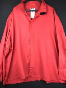 New BULWARK Flame Resistant FR Red Long Sleeve Light Work Welder Shirt Big 4XL