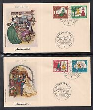 "A 40 ) Germany Berlin:  2 beautiful FDC 1965 - Fairy Tale ""Cinderella"""