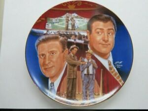 """Rare 10"""" Numbered SPORTS IMPRESSIONS Plate """"Who's on First"""" Abbott & Costello"""
