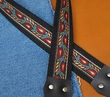 BRUSHFIRE Cotton USA - made TROPHY A & F style Mandolin Strap