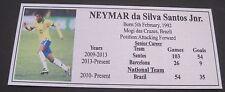 Soccer NEYMAR Brazil legend SILVER Sublimated Plaque