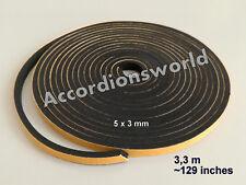 3,3 M Accordion Bellows Gasket self-adhesive/ Akkordeon Balgdichtung 5 x 3 (mm)