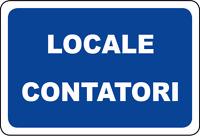 ADESIVO segnaletica LOCALE CONTATORI 120x180 mm